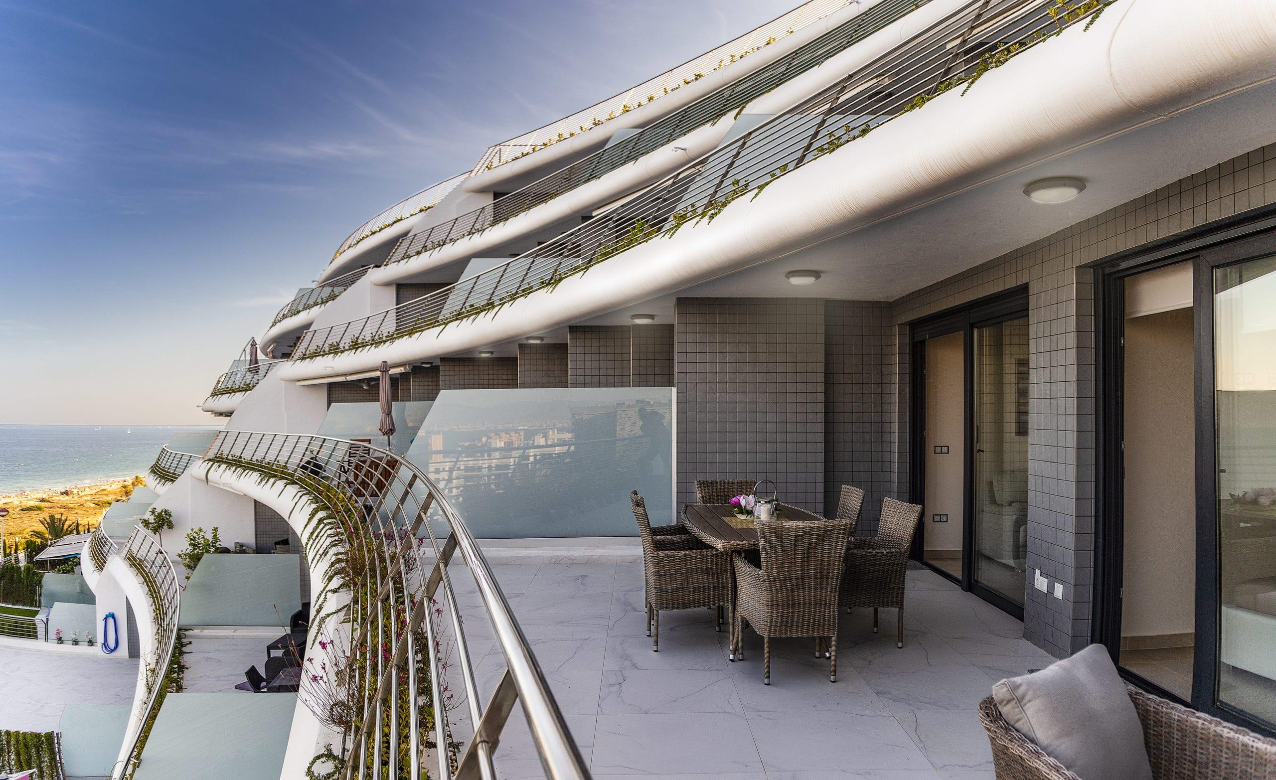 Apartament z widokiem na morze , pierwsza linia brzegowa w Arenales del Sol